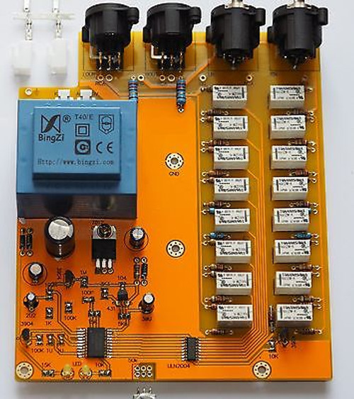 Balanced in/out 256 steps volume control board passive pre-amplifier stereo  !
