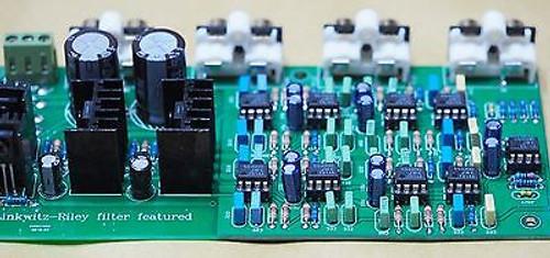 Linkwitz-Riley 3-way electronic crossover 310Hz 3.1KHz shunt reg psu stereo !