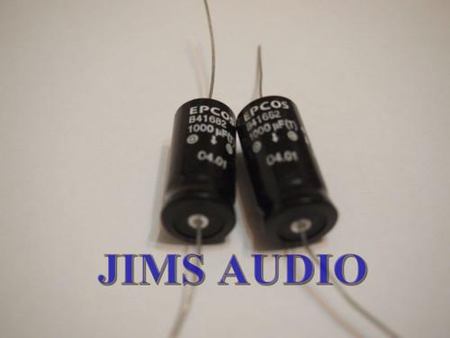 EPCOS Siemens B41682 series 1000uF 40V high reliability 2 pcs !