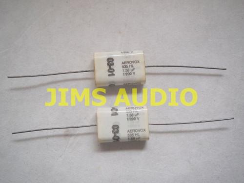Aerovox 1.58uF 200V DC audio grade capacitor 1pr New Old Stock !!