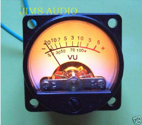 VU meter for recording & audio level warm back light !
