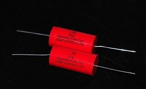 JPX Supreme Film Capacitors for Audio 10uF 250VDC 2 pcs ultra low loss   !