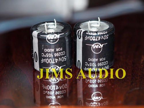 RM Audio Electrolytic capacitor 4700u 50V snap-in 2pc !!