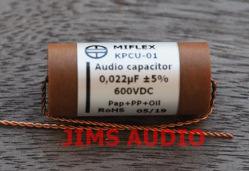 Miflex KPCU-01 600VDC 0.022uF Paper+PP+Oil audio capacitor 1 piece !