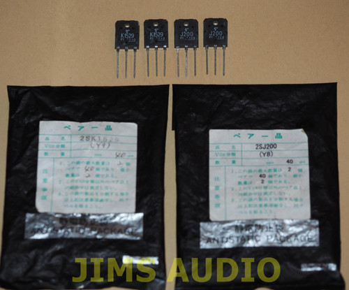 Toshiba 2SK1529/J200 power mosfet matched quad set !