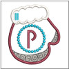 Mitten ABC's - P - In the Hoop - Embroidery Design