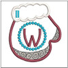 Mitten ABC's - W - In the Hoop - Machine Embroidery Designs