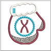 Mitten ABCs - X - Embroidery Designs