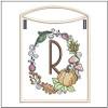 Pumpkin Wreath Bunting ABCs - R - Embroidery Designs