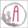 Bunny Wreath ABCs - A - Embroidery Designs