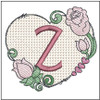 "Heart Monogram  ABCs -Z- Fits a 4x4"" Hoop - Machine Embroidery Designs"