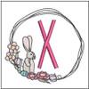 Bunny Wreath ABCs - X - Embroidery Designs
