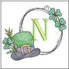 Shamrock ABCs - N - Embroidery Designs