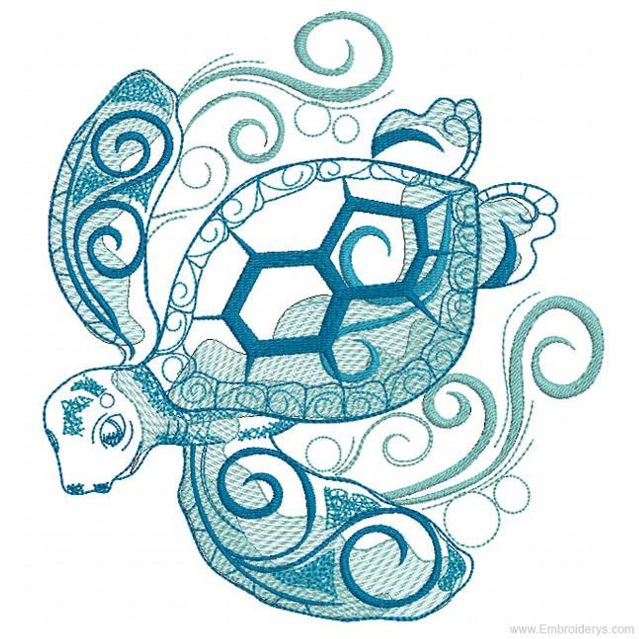Download Noble & Wise Sea Turtle - Embroidery Designs