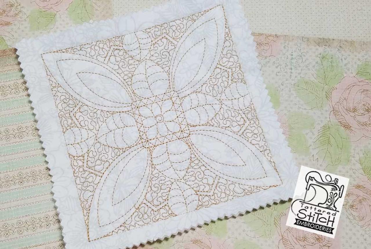 30 Off Floral Quilt Blocks Bundle Multiple Sizes In The Hoop
