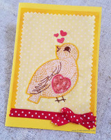 How to Make Your Own Applique Embroidered Card - Tutorial!