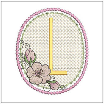 Cherry Blossom Font - L - Embroidery Design