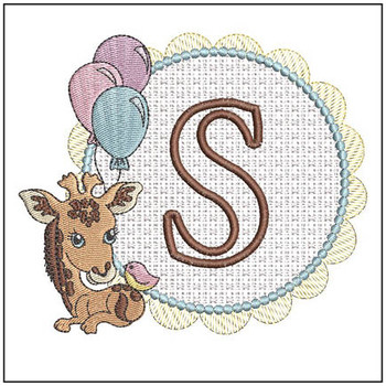 Baby Giraffe Font Applique - S - Embroidery Designs