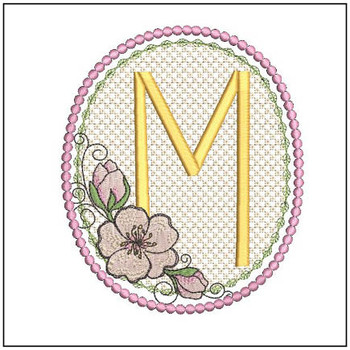 Cherry Blossom Font - M - Embroidery Design