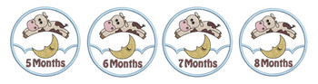 "Monthly Milestones Applique - Cow Jumps Over the Moon Bundle 5-8 - Fits into a 4x4"" Hoop - Instant Downloadable Machine Embroidery"