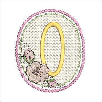 Cherry Blossom Font - O - Embroidery Design