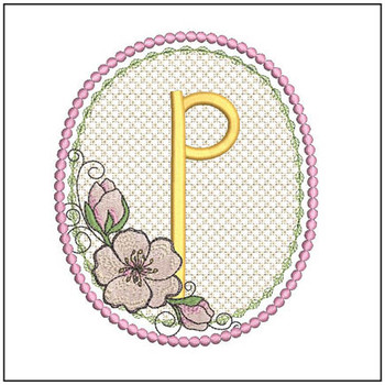 Cherry Blossom Font - P - Embroidery Design