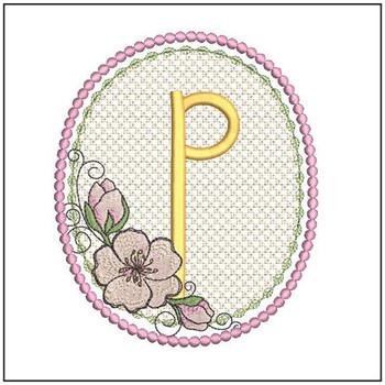 Cherry Blossom Font - P - Embroidery Design