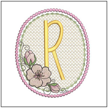 Cherry Blossom Font - R - Embroidery Design