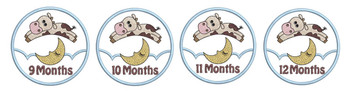 "Monthly Milestones Applique - Cow Jumps Over the Moon Bundle 9-12 - Fits into a 4x4"" Hoop - Instant Downloadable Machine Embroidery"