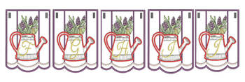 Foxglove Script Bunting - Bundle- Letters - F-J - Embroidery