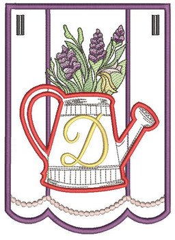 "Foxglove Script Bunting - D - Fits a 5 by 7"" Hoop - Instant Downloadable Machine Embroidery"