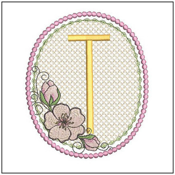 Cherry Blossom Font - T - Embroidery Design
