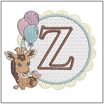 Baby Giraffe Font Applique - Z - Embroidery Designs