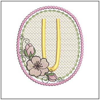 Cherry Blossom Font - U - Embroidery Design