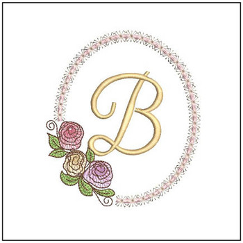 "Rosabella B - Fits into a 5x7"" Hoop - Instant Downloadable Machine Embroidery"