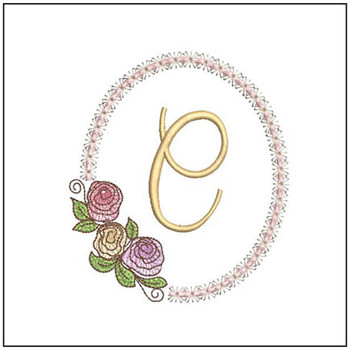 "Rosabella C - Fits into a 5x7"" Hoop - Instant Downloadable Machine EmbroideryC"