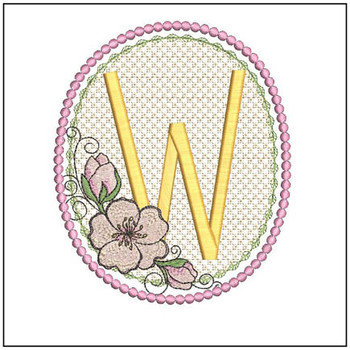 Cherry Blossom Font - W - Embroidery Design