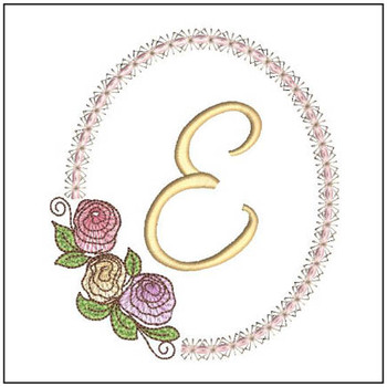 "Rosabella E - Fits into a 5x7"" Hoop - Instant Downloadable Machine EmbroideryC"