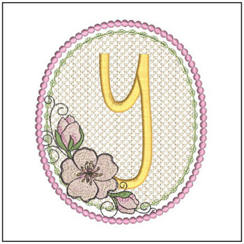 Cherry Blossom Font - Y - Embroidery Design
