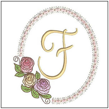 Rosabella Font ABCs - F - Embroidery Designs