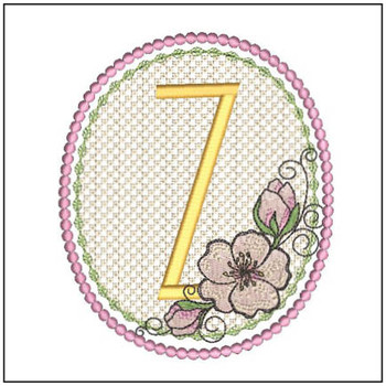 Cherry Blossom Font - Z - Embroidery Design