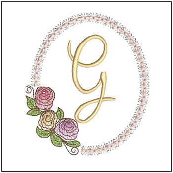 "Rosabella G - Fits into a 5x7"" Hoop - Instant Downloadable Machine EmbroideryC"