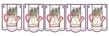 Foxglove Script Bunting - Bundle- Letters - P-T - Embroidery