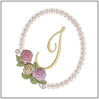 "Rosabella I - Fits into a 5x7"" Hoop - Instant Downloadable Machine EmbroideryC"
