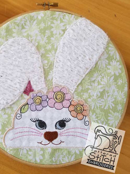 Peeking Bunny Block - Instant Downloadable Machine Embroidery