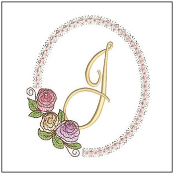 "Rosabella J - Fits into a 5x7"" Hoop - Instant Downloadable Machine EmbroideryC"