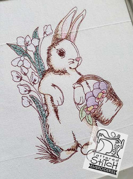 """Easter Rabbit - 4x4, 5x7 and 8x8"""" Hoop Sizes - Instant Downloadable Machine Embroidery"""
