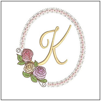 "Rosabella K - Fits into a 5x7"" Hoop - Instant Downloadable Machine EmbroideryC"