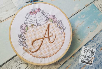 Joyful Bells Font - A - Embroidery Designs