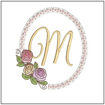 "Rosabella M - Fits into a 5x7"" Hoop - Instant Downloadable Machine EmbroideryC"
